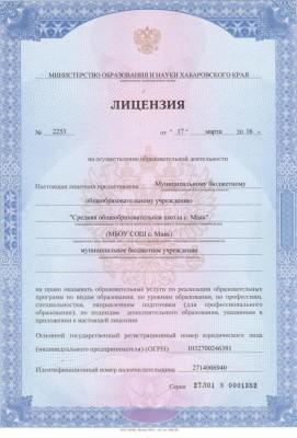 Лицензия 001